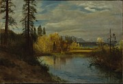 Famous Artists - Outlet at Lake Tahoe by Albert Bierstadt