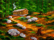 Ltd. Edition Prints - Outpost  Cabin  Print by Shasta Eone