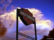 Community Service Prints - Outpost Harley Davidson Pueblo Colorado Sign Print by JFantasma Photography