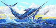 Blue Marlin Paintings - Outrageous Off00129 by Carey Chen