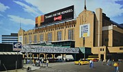 Boston Baseball Stadiums Prints - Outside Boston Garden Print by Thomas  Kolendra