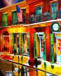 New Orleans Painting Prints - Outside Pat OBriens Bar Print by Diane Millsap