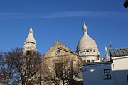 Montmartre Metal Prints - Outside the Basilica of the Sacred Heart of Paris - Sacre Coeur - Paris France - 01131 Metal Print by DC Photographer