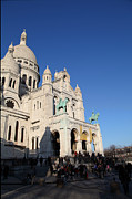 Parisian Prints - Outside the Basilica of the Sacred Heart of Paris - Sacre Coeur - Paris France - 01135 Print by DC Photographer