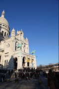 Christian Prints - Outside the Basilica of the Sacred Heart of Paris - Sacre Coeur - Paris France - 01136 Print by DC Photographer