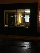 Guy Ricketts Photography Prints - Outside The Edward Hopper Cafe Print by Guy Ricketts