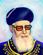 Rav Paintings - Ovadiah Yosef by Sam Shacked