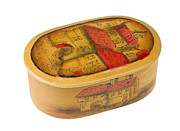 Aleksandr Volkov - Oval leather box isolated
