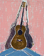 Acoustic Guitar Paintings - Ovation Legend Ltd Guitar by Anita Dale Livaditis