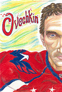 Ovechkin Framed Prints - Ovechkin 2013 Framed Print by Paul Nichols