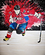 Ovechkin Framed Prints - Ovechkin Framed Print by Darryl Mallanda