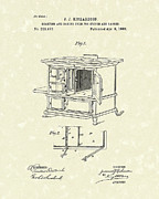 Oven Drawings Prints - Oven 1886 Patent Art Print by Prior Art Design