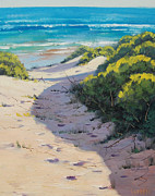 Signed . Nature Paintings - Over The Dunes by Graham Gercken