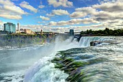 Niagara River Prints - Over The Edge 1 Print by Mel Steinhauer
