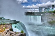 Horseshoe Falls Framed Prints - Over The Edge 2 Framed Print by Mel Steinhauer