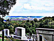 Arlington Virginia Digital Art Prints - Over the Horizon in Arlington Print by Angela Hodges Clay