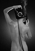 Gay Digital Art - Over The Phone by Mark Ashkenazi