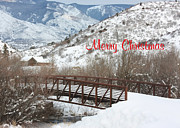 Christmas Greeting Posters - Over the River Poster by Kim Hojnacki