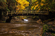 Buttermilk Falls State Park Framed Prints - Over the River Framed Print by Mark Papke