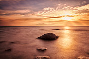 Scenic Landscape Prints Photos - Over the sea to Arran by John Farnan