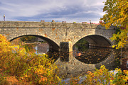Fall River Scenes Prints - Over the Souhegan Print by Joann Vitali