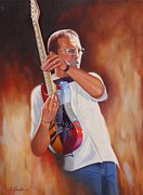 Eric Clapton Painting Framed Prints - Over the Top Framed Print by Glenn Santos