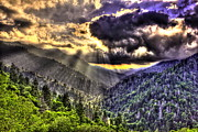 Great Smokey Mountains Prints - Over the Top Print by Reid Callaway