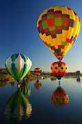 Balloons Prints - Over the Water Print by Mike  Dawson