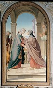 Holy Art Prints - Overbeck Friedrich, Visitation, 1867 Print by Everett