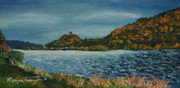 Monica Veraguth Framed Prints - Overcast at Lake Winona Framed Print by Monica Veraguth