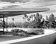 Grey Clouds Prints - OVERHANG BW Palm Springs Print by William Dey