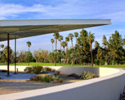 Overhang Metal Prints - OVERHANG Palm Springs Tram Station Metal Print by William Dey