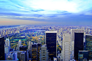 Landmarks Art - Overlooking Central Park New York City USA by Sabine Jacobs