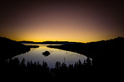 Lake Tahoe Photography Photos - Overlooking Emerald Bay at DawnLake Tahoe by Scott McGuire