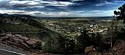 Panorama Digital Art Originals - Overlooking Golden Colorado by Kenneth Bibbee
