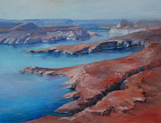 Dry Lake Paintings - Overlooking Lake Powell by Donna Pierce-Clark