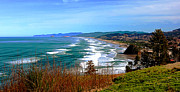 Lincoln City Art - Overlooking Proposal Rock Cape Lookout Haystack Rock and Cape Kiwanda by Margaret Hood