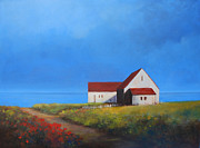 Cape Cod Paintings - Overlooking the Bay by Linda Puiatti