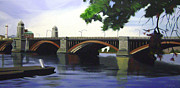 Longfellow Paintings - Overlooking The Charles by JJ Long