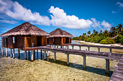 Bungalows Prints - Overwater Spa Villas. Maldives Print by Jenny Rainbow