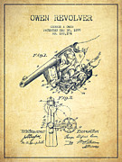 Owen Revolver Patent Drawing From 1899- Vintage Print by Aged Pixel