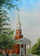 Owensboro Kentucky Posters - Owensboro First Presbyterian Church Poster by Todd Derr