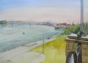 Owensboro Kentucky Prints - Owensboro Riverfront From English Park Print by Todd Derr