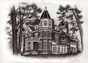 Mansion Drawings - Owenton Kentucky 1 by Tanya Crum