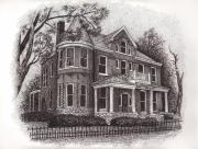 Mansion Drawings - Owenton Kentucky 3 by Tanya Crum
