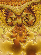 Animal Wallpaper Posters - Owl Abstract  Poster by Heidi Smith