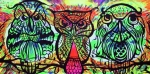Trippy Painting Posters - Owl B Watching Poster by Lorinda Fore and Tony Lima