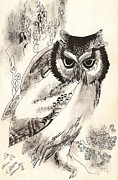 Yana Vergasova - Owl Dry Brush Drawing...
