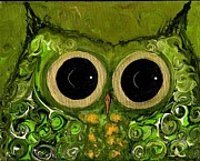 Owls Mixed Media - Owl Eyes 8 by Julie Sutherland