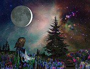 Kinkade Digital Art Posters - Owl Is In Wonderland Poster by Ever Inward